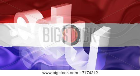 Bandeira do Paraguai educação ondulado