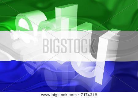 Bandeira da Serra Leoa ondulado educação