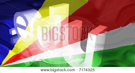 Bandeira de Seychelles ondulado educação