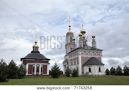 Church of Saint Archangel Michael and Church of Saint Frol and Pavel. Suzdal, Golden Ring of Russia.