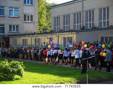 First day of school for kids in Latvia