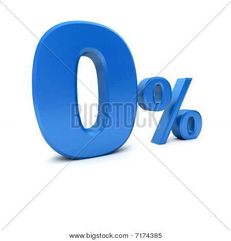 0% In Blue