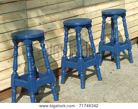 stools at a summer kiosk