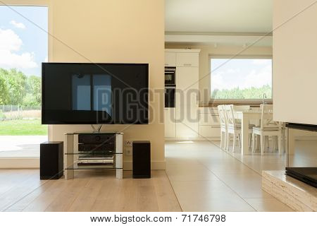 Living Room Combined With Dining Space