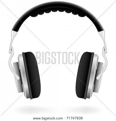 Studio headphones isolated on white background.