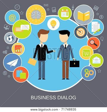 Business dialog concept