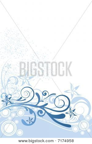 Flower Background Blue Ornament