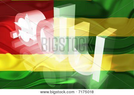 Bandeira do Togo ondulado educação