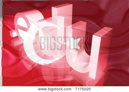 Bandeira da Turquia ondulado educação