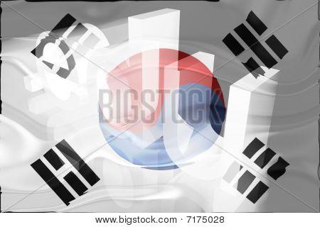 Bandeira da Coreia do Sul educação ondulado
