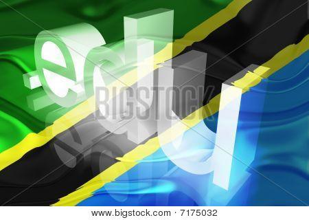 Bandeira da Tanzânia ondulado educação