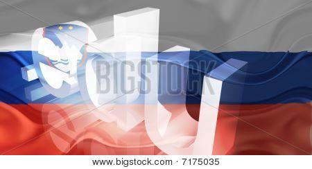 Bandeira da Eslovénia ondulado educação