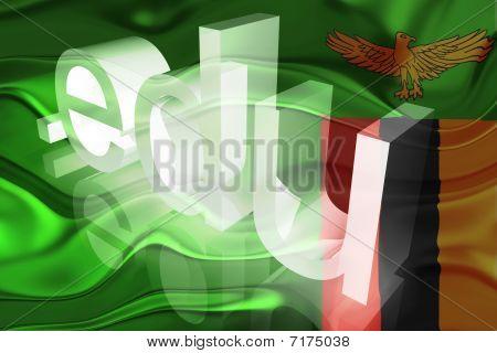 Bandeira da Zâmbia ondulado educação