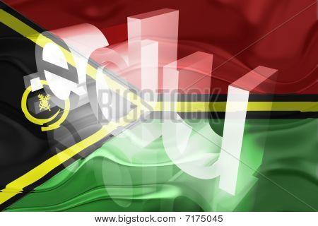Bandeira de Vanuatu ondulado educação