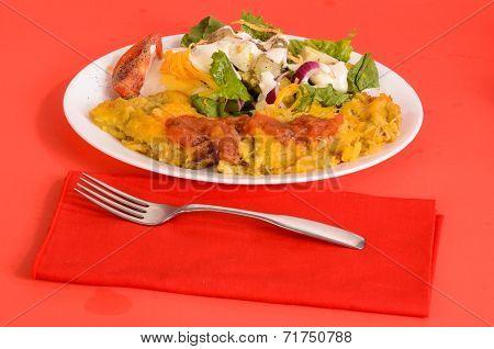 Chicken Enchilada On Red