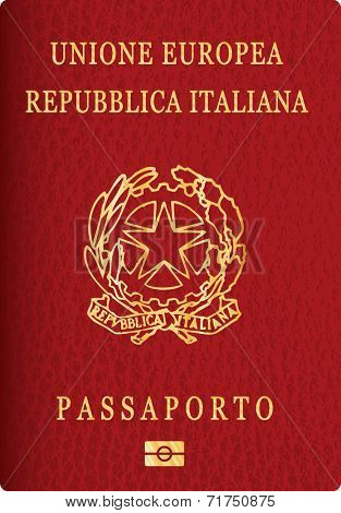 vector Italian passport cover