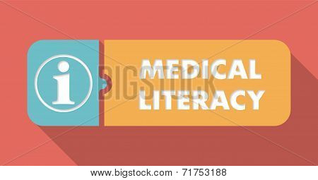Medical Literacy Concept in Flat Design.