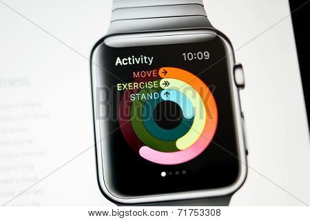 Apple Computers Website With Apple Watch Activity App