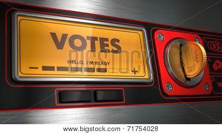 Votes on Display of Vending Machine.