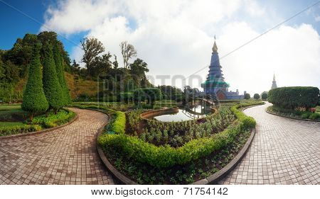 Doi Inthanon national park panorama in Chiang Mai, Thailand