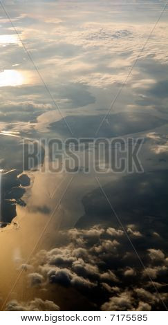 Aerial View Above A Blanket Of Clouds