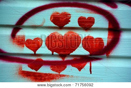 Street art Montreal bleeding heart