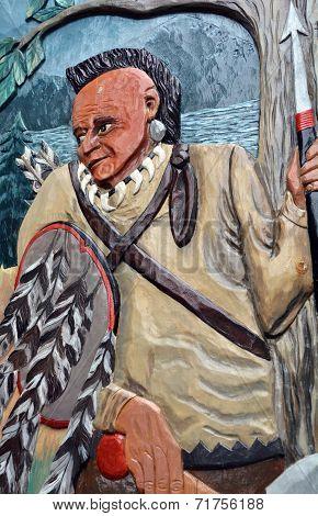 Street Art Indian warrior