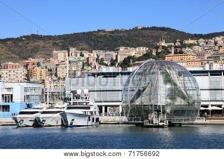Genoa harbor, Italy