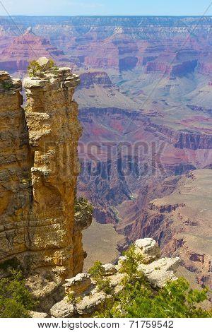 Rock formation at Grand Canyon.