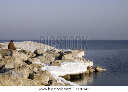 Spring Fishing On The Rocks