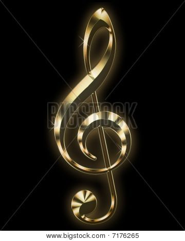 Golden tremble clef