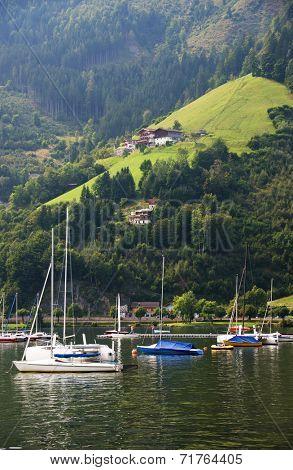 Boats on Zeller Lake, Zell am See, Austria, Europe