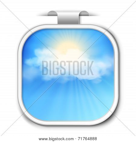 Abstract vector sky sticker