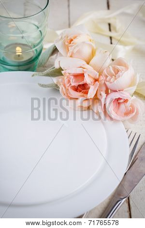 Romantic Table Setting.