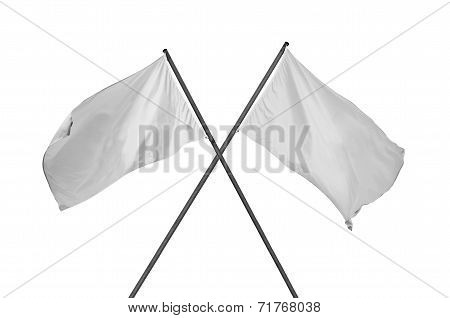 White Flags Crossed