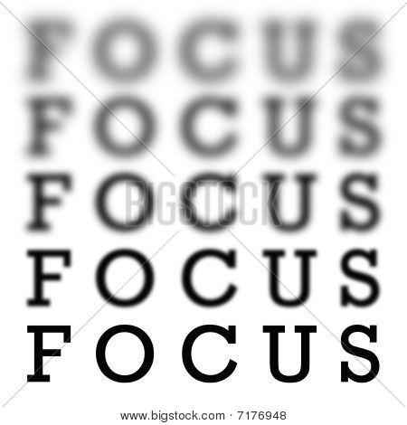 Escala da carta de foco