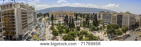 Syntagma sq. panorama, Athens, Greece