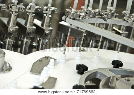 pharmaceutical medicine industrial production line machine at work