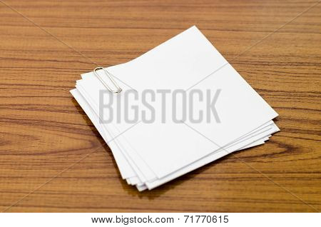Stack Of Paper With Clip