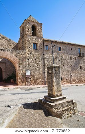 Franciscan monastery. Rocca Imperiale. Calabria. Southern Italy.