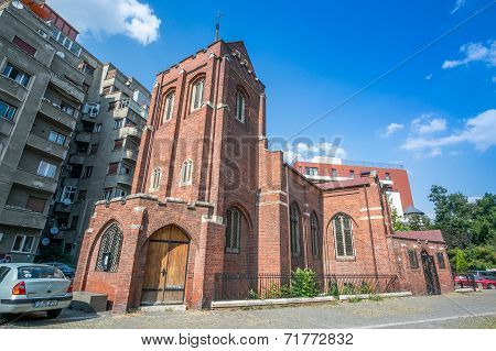 Bucharest, Romania - August, 28, 2014: Anglican Church In Bucharest, Romania.