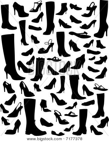 Shoe silhouettes