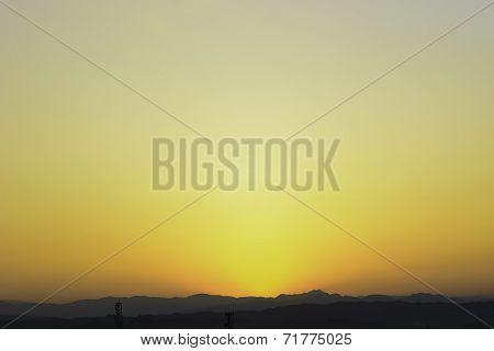 Fiery Countryside Sunrise