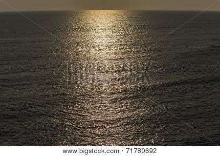 evening sun reflecting on ocean, St. Bride's