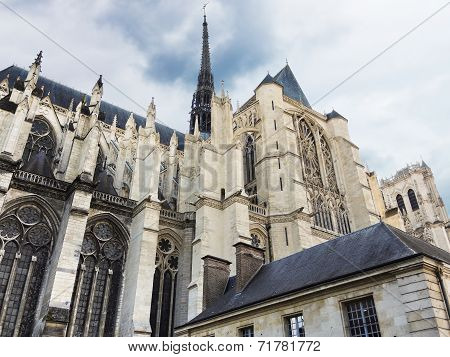 Exterior Of Amiens Cathedral, France