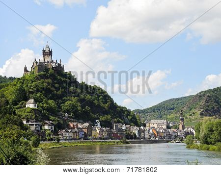View Of Cochem On Moselle River, Germany