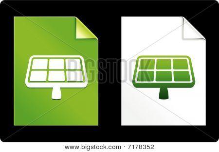Painel solar no conjunto de papel