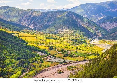 Valley In The South Of France