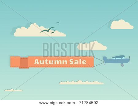Flying Plane With Banner