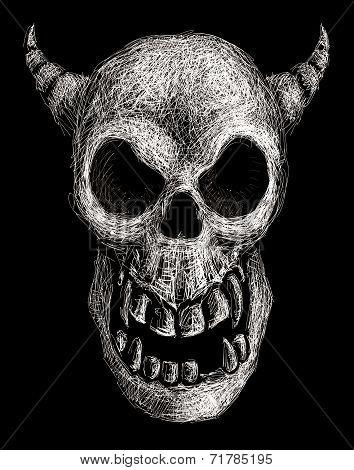 Daemon skull